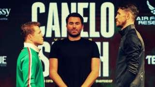 Canelo Alvarez and Callum Smith