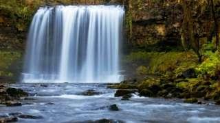 Sgwd yr Eira falls near Pontneddfechan