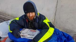 Paul, who sleeps rough