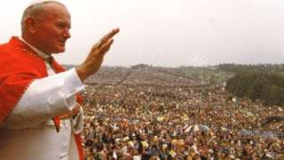 About 450,000 people came to Knock to see Pope John Paul II mark the shrine's centenary in 1979