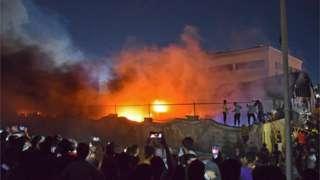 Ал-Хуссейн ооруканасында өрт 12-июлда караңгы киргенде башталган