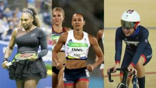 Serena Williams, Jessica Ennis-Hill and Laura Kenny