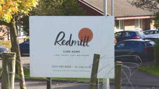 Redmill care home sign