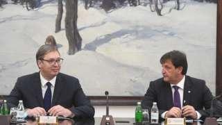 Predsednik Srbije Aleksandar Vučić i direktor BIA Bratislav Gašić