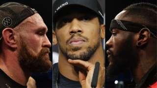 Tyson Fury, Anthony Joshua and Deontay Wilder