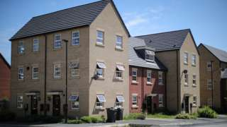 A view of the new Shimmer housing development which will be part demolished to make way for the HS2 high-speed rail link on July 17, 2017 in Mexborough, England.