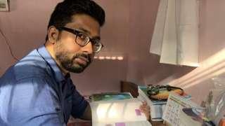 Dr Senapati at home