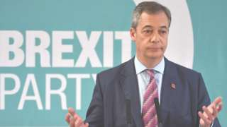 Nigel Farage and Brexit Party logo