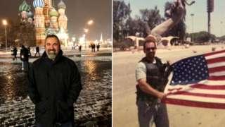 Marc Polymeropoulos (solda) hastalığını Moskova gezisine dayandırıyor.