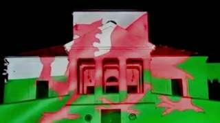 Artist's impression of lit castle