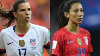 Tobin Heath (left) and Christen Press