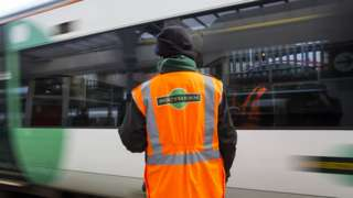 Southern worker on platform