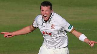 Essex's Peter Siddle celebrates taking a wicket