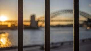 Sydney, Australia, in lockdown, with the Sydney Harbour bridge