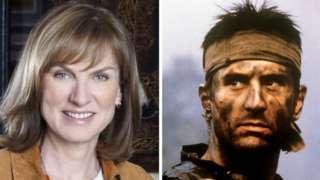 Fiona Bruce and Robert de Niro in The Deer Hunter