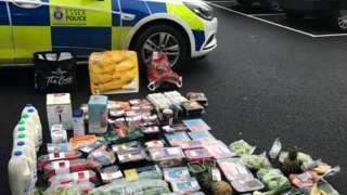 Stolen goods near an Essex Police car