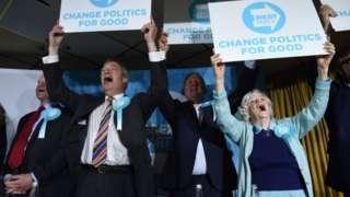 Nigel Farage and Anne Widdecombe