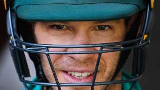 Tim Paine smiles