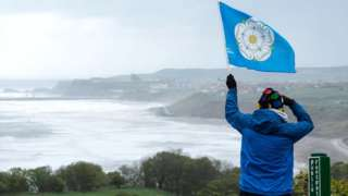 Yorkshire flag over Whitby