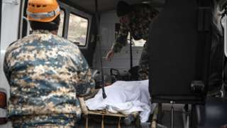Ölən erməni hərbçilərin axtarışı