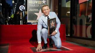 Daniel Craig with his star on the Hollywood Walk of Fame
