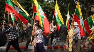 ရွေးကောက်ပွဲကော်မရှင်နှင့် အစိုးရကို ကန့်ကွက်ဆန္ဒပြမှု ရန်ကုန်မြို့ ဗဟန်းမြို့နယ်မှာ ဇန်နဝါရီ ၂၉ ရက်နေ့ မွန်းလွဲပိုင်းမှာ ပြုလုပ်