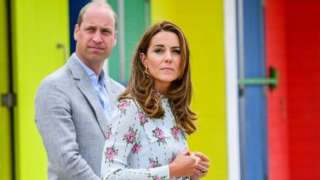 The Duke and Duchess of Cambridge in Barry Island
