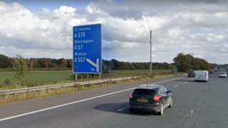 junction 7 of m62 sign