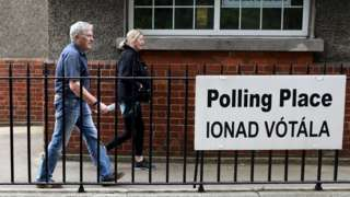 Irish polling station