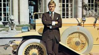 Robert Redford in a scene from the film The Great Gatsby (1974)