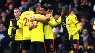 Watford players