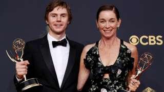 Evan Peters and Julianne Nicholson