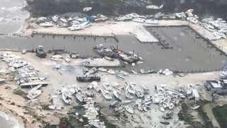 Imagen aérea de Bahamas inundada