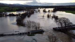 A bridge over the River Clwyd has collapsed