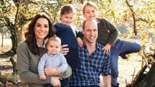 The Duke and Duchess of Cambridge with their three children