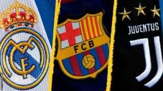 Barca, Juve and Real