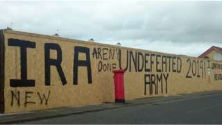 New IRA mural in Derry photographed in 2019