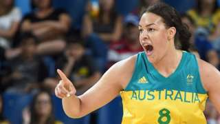 Liz Cambage at the 2016 Olympics in Brazil