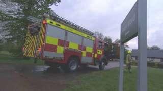 A fire engine at Llanarth Court