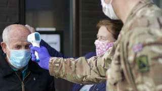 Military carrying out coronavirus tests
