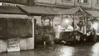 Market stalls on Yorkshire Street, Rochdale
