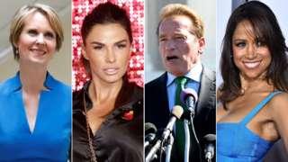 Cynthia Nixon, Katie Price, Arnold Schwarzenegger and Stacey Dash