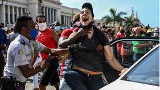 A man is arrested in Cuba