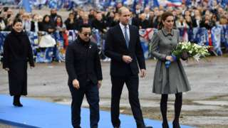 Top, Prince William and Kate