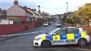 Murder scene in Huddersfield