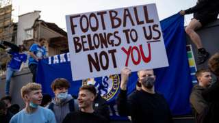 Simpatizantes del Chelsea.