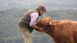 Farmer, Cameron Farquharson with Gladis