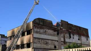 Gutted warehouse in Badalona, 10 Dec 20