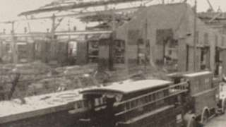 Bomb damage to Rolls-Royce factory