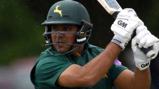 Samit Patel in action for Nottinghamshire